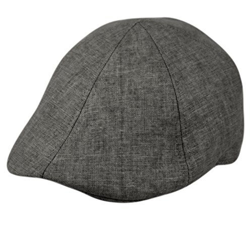 Epoch hats Men's Cool Summer Duckbill Ivy Cap, Newsboy Pub Irish Hat, Golf Cap (A DK Gray)