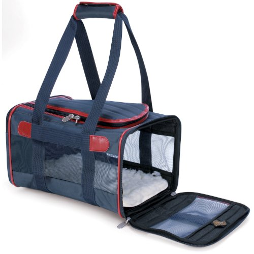 Sherpa 55534 Original Deluxe Pet Carrier, Small, Navy with Red Trim, My Pet Supplies