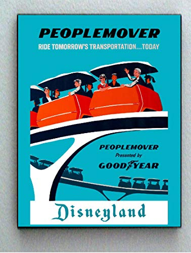 Framed Disneyland 1969 People Mover Tomorrowland Vintage Restored 8.5X11 mini ()