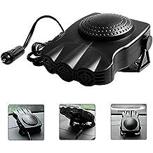 Portable Car Heater, niceEshop(TM)Extremely Fast Heating Defrost Defogger Demister Vehicle Heat Cooling Fan 12V 150WAuto Ceramic Heater 3-Outlet Plug In Cigarette Lighter