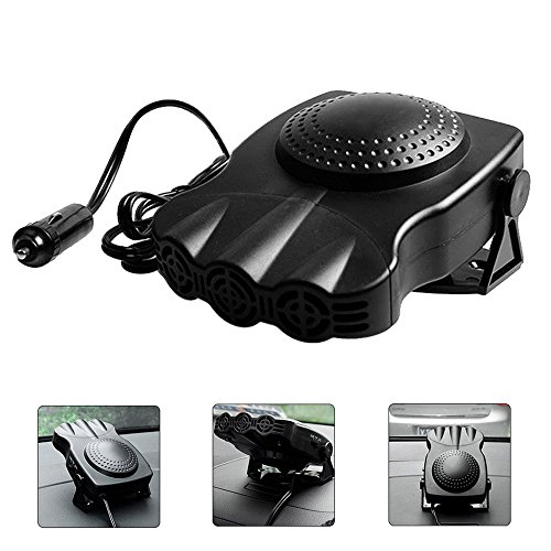 Portable Car Heater, niceEshop(TM)Extremely Fast Heating Defrost Defogger Demister Vehicle Heat Cooling Fan 12V 150WAuto Ceramic Heater 3-Outlet Plug In Cigarette Lighter