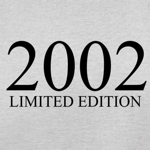 2002 Limierte Auflage / Limited Edition - 15. Geburtstag - Herren T-Shirt - Hellgrau - XXL