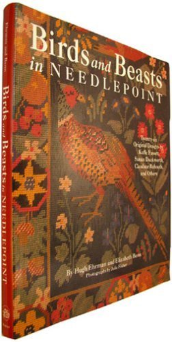 Wool Needlepoint Cover - Birds And Beasts In Needlepoint