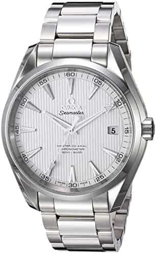 Omega Men's 'Seamaster150' Swiss Automatic Stainless Steel Dress Watch, Color:Silver-Toned (Model: 23110422102003)