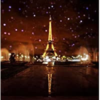 10x10ft Lights up the Night Paris Eiffel Tower Photography Backdrop Photo Background FT0432T