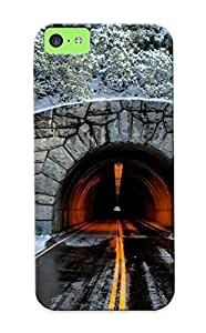 Pretty GlKDiPv1067rKrxZ Iphone 5c Case Cover/ Tunnel Through The Mountain Series High Quality Case