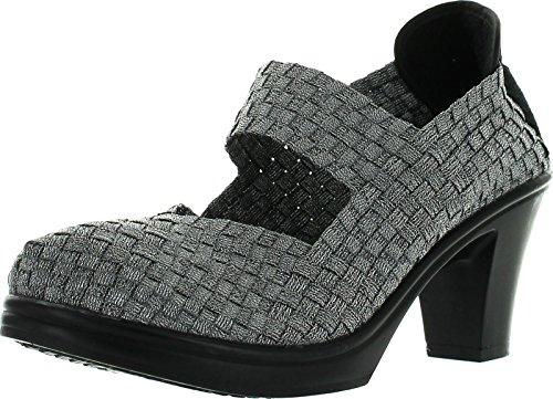 Bernie Mev Womens Bonnie Pumps Shoes,Pewter,38