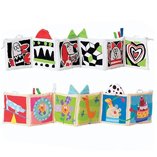 - Kolamom Clip-On Baby Pram Carriage Crib Stroller Cloth Books Crib Bumper Crinkle Soft Book for Babies Early Development Learning & Education Toys for Newborn Infants Toddlers Children Kids (Dog)
