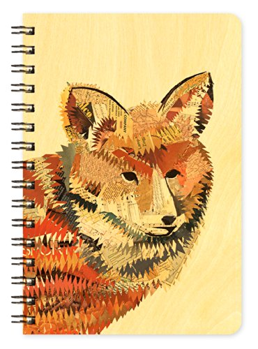 Red Fox Wooden Pocket Notepad by Dolan Geiman and Night Owl Paper Goods