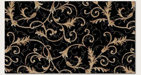 Couristan 2863/6214 Everest Royal Scroll/Ebony 5-Feet 3-Inch by 7-Feet 6-Inch - Scroll Everest Royal