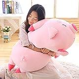 ブタ だきまくら ぬいぐるみ 特大 豚 大きいぶた 抱き枕 み/プレゼント/ふわふわぬいぐるみ (60cm)