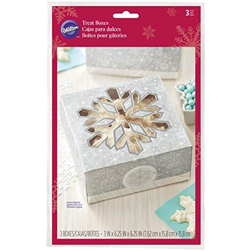 (Wilton Silver Snowflake Treat Boxes,)