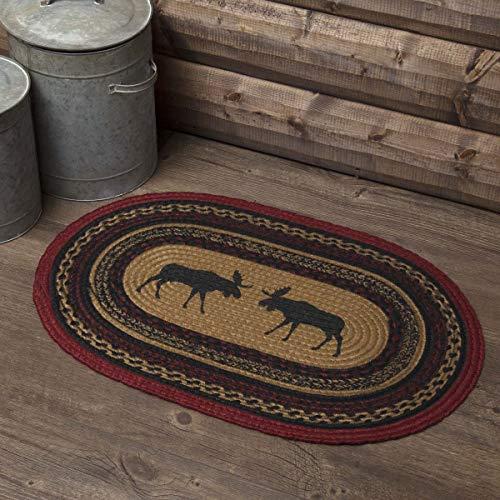 VHC Brands 37868 Rustic & Lodge Flooring-Cumberland Tan Oval Jute Rug, 1'8