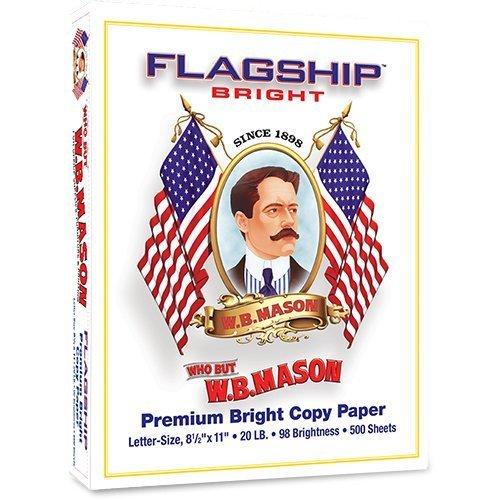 Flagship Premium Extra Bright Copy Paper, 20 lb., 500 - Com Flagship