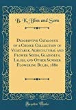 Amazon / Forgotten Books: Descriptive Catalogue of a Choice Collection of Vegetable, Agricultural and Flower Seeds, Gladiolus, Lilies, and Other Summer Flowering Bulbs, 1880 Classic Reprint (B K Bliss and Sons)