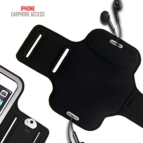 Premium iPhone X/10 Running Armband with Full Screen Access. Sports Phone Arm Case Holder for Jogging, Gym Workouts & Exercise by Revere Sport (Image #4)