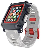LUNATIK EPIK H20 Waterproof Polycarbonate Case and Silicone Strap for Apple Watch Series 1, Stars & Stripes