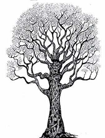 Jhc Blanco Y Negro Cama De árbol De La Vida Tapiz Hippie Bohemio