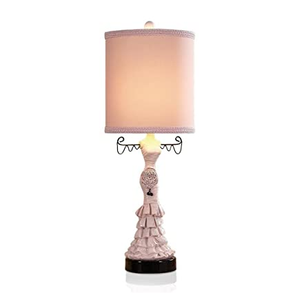 A-Lámparas de escritorio MEHE@ Pink Princess Dress Lámpara ...
