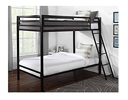 Amazon Com Mainstays Premium Metal Twin Over Twin Bunk Bed For