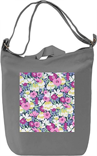 Watercolor Flowers Print Borsa Giornaliera Canvas Canvas Day Bag| 100% Premium Cotton Canvas| DTG Printing|