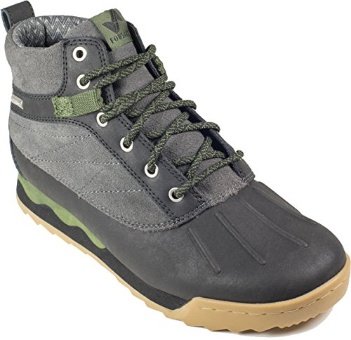 Forsake Duck - Women's Waterproof Leather Performance Sneakerboot (6.5 D(M), Black/Cypress) by Forsake (Image #1)