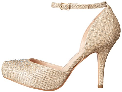 nude Mujer Covet De Glitter Beige Fabric Tacón Pleaser Mesh Zapatos 03 OXUqw0