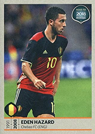 2017 Panini Road to 2018 FIFA World Cup Russia  12 Eden Hazard Belgium  Soccer Sticker d51da3756