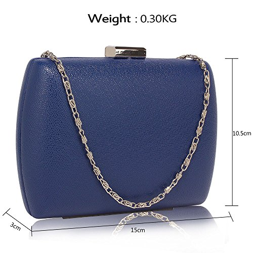 Evening Beautiful Beautiful DELIVERY Navy Bag FREE Case Hard Navy UK nPZvHww