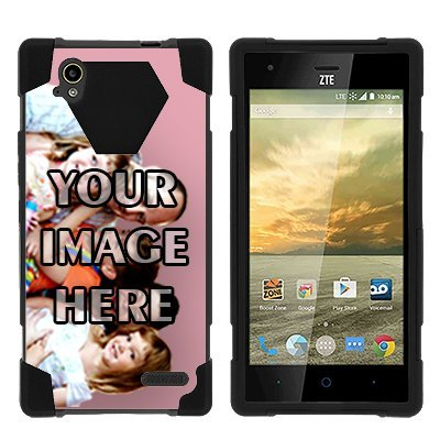Elite Phone Covers - ZTE Warp Elite N9518,NEW [Customizable by Buyers] [Create Your Own Phone Case] Dual Layer Hybrid Kickstand Cover for Warp Elite N9518 by Miniturtle - Black