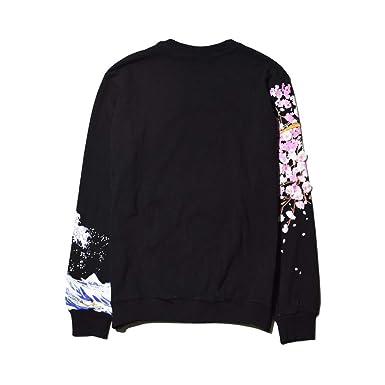 SDF Manual Sweatshirt Sudadera con Capucha y suéter Bordado Hombres y Mujeres Parejas Modelos Juveniles Manga Larga Personalizada con Flores de Cerezo ...