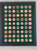 Green Casino Chip Display Frame for 63 Casino Poker Chips (not included)