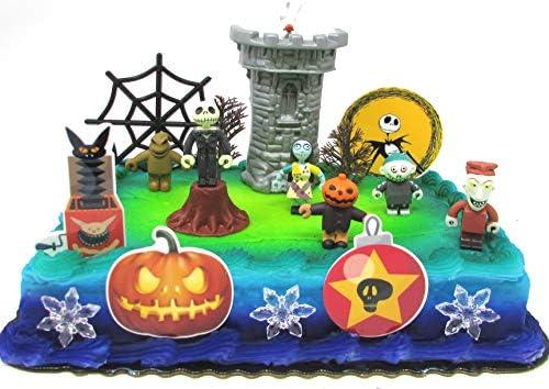 Peachy Nightmare Before Christmas 17 Piece Birthday Cake Topper Set Funny Birthday Cards Online Elaedamsfinfo