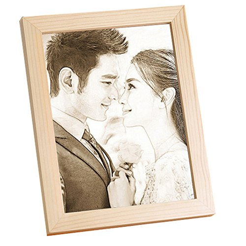 photo Frame Carved on the board Wedding birthday present Customize Christmas gift (Bracket 6) by JEYKAY (Image #8)