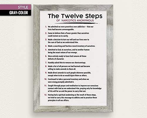 Amazon.com: The 12 Steps of NA Poster - Narcotics ...