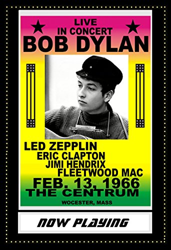 Bob Dylan Concert Poster - Bob Dylan Musician Concert Poster 13 X 19 Wtih Marquee Background Novelty poster