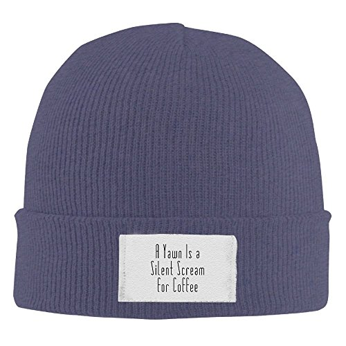 Scream Costume Images (Unisex Beanie Hat A Yawn Is A Silent Scream For CoffeeSimple Cool Warm Thick Chunky Beanie Hats Oversized)