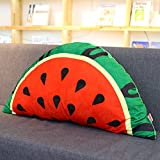 QIANGDA Bed Backrest/headboard Cushion Cartoon Soft Pillow Lumbar Support Princess Bedroom, 85 X 48cm, 4 Fruits Styles Optional (Color : Watermelon)