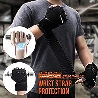 Grebarley Fitness Gloves Levantamiento de Pesas, protección Total ...