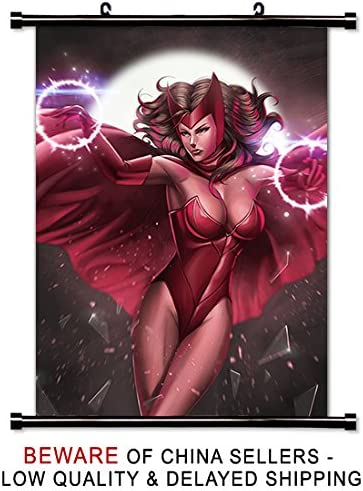 Amazon Com Scarlet Witch Sexy Super Hero Fabric Wall Scroll