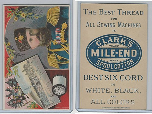 H605 Clark's Thread, Rulers and View, 1890's, Russia, Alex 2nd