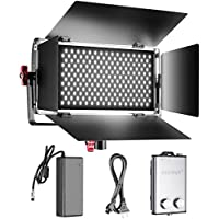 Neewer Dimmable Bi-color SMD LED with U Bracket and Barndoor Professional Video Light for Studio,YouTube, Product Photography,Video Shooting, Durable Metal Frame,384 LED Beads, 96W, 3200-5600K,CRI 95+