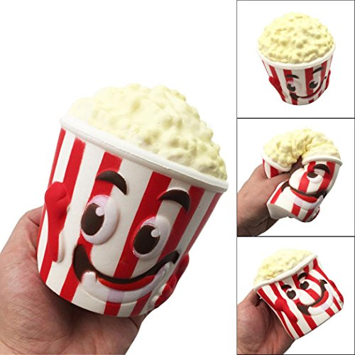 Funny Toy for Kids Baomabao Big Popcorn Cup Squishy Scented Squishy Slow Rising Squeeze Toy Collection (Tire Chest Toy)