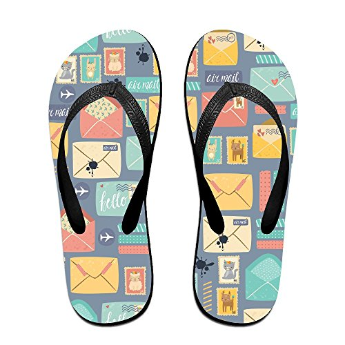 DTMN7 New Fashion Comfortable Beach Slippers Postal Stationery Unisex Flip Flops