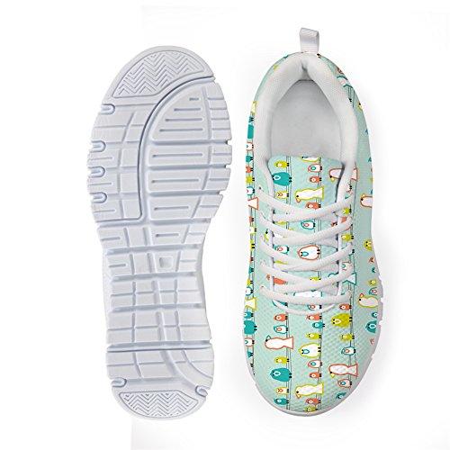 Bigcardesigns Damesmode Mooie Print Sportschoenen Sneakers Veter Mooie Vogels