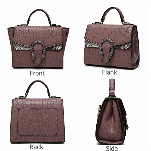 Bag Retro amp;Sue Handle Messenger Women Satchel Handbag Wild Claret Leather Snake Pattern Alligator Style Flap Mn PBqTF