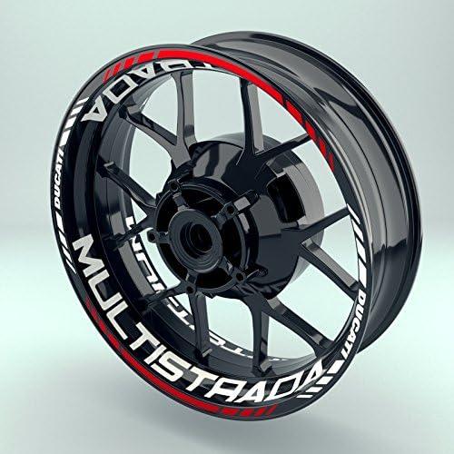 FELGENRANDAUFKLEBER passend f/ür Ducati 821 Moto GP Style Felgenaufkleber Motiv 1