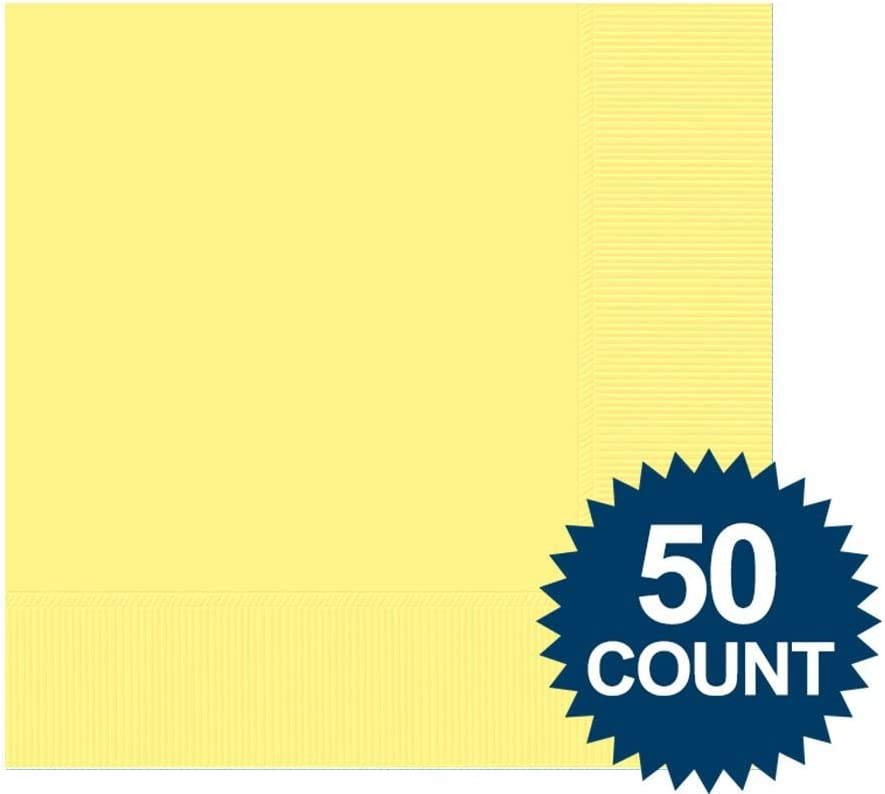 Light Yellow Beverage Napkins