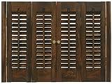 Interior Shutter Kits 1 1/4'' Louver, Bass Wood (Stain Finish-Walnut, 31-33'' W x 20'' H)