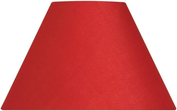 Oaks Lighting Pantalla c/ónica para l/ámpara color rojo algod/ón, 25,4 cm